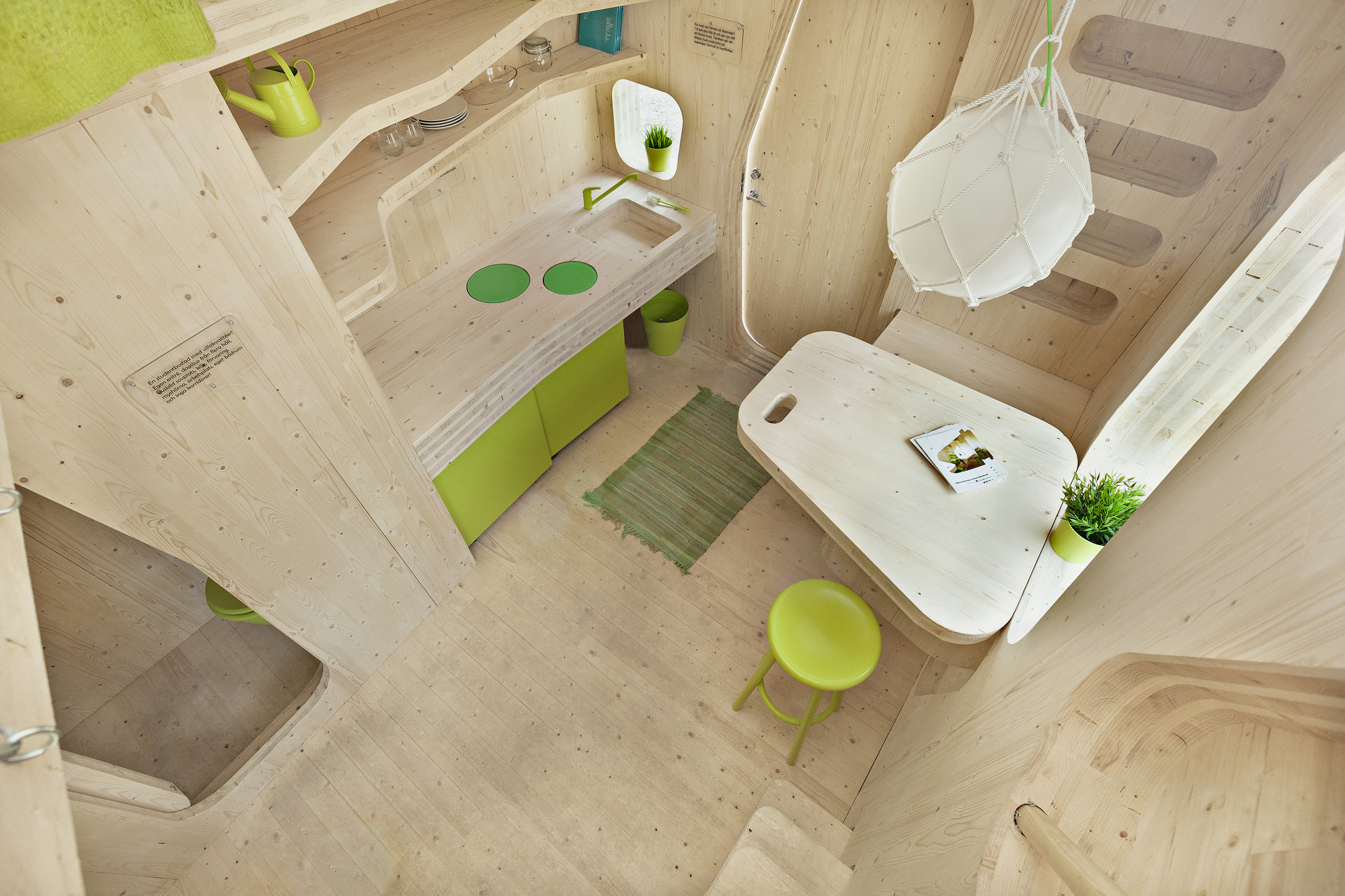 Smart student unit by Tengbom: interni