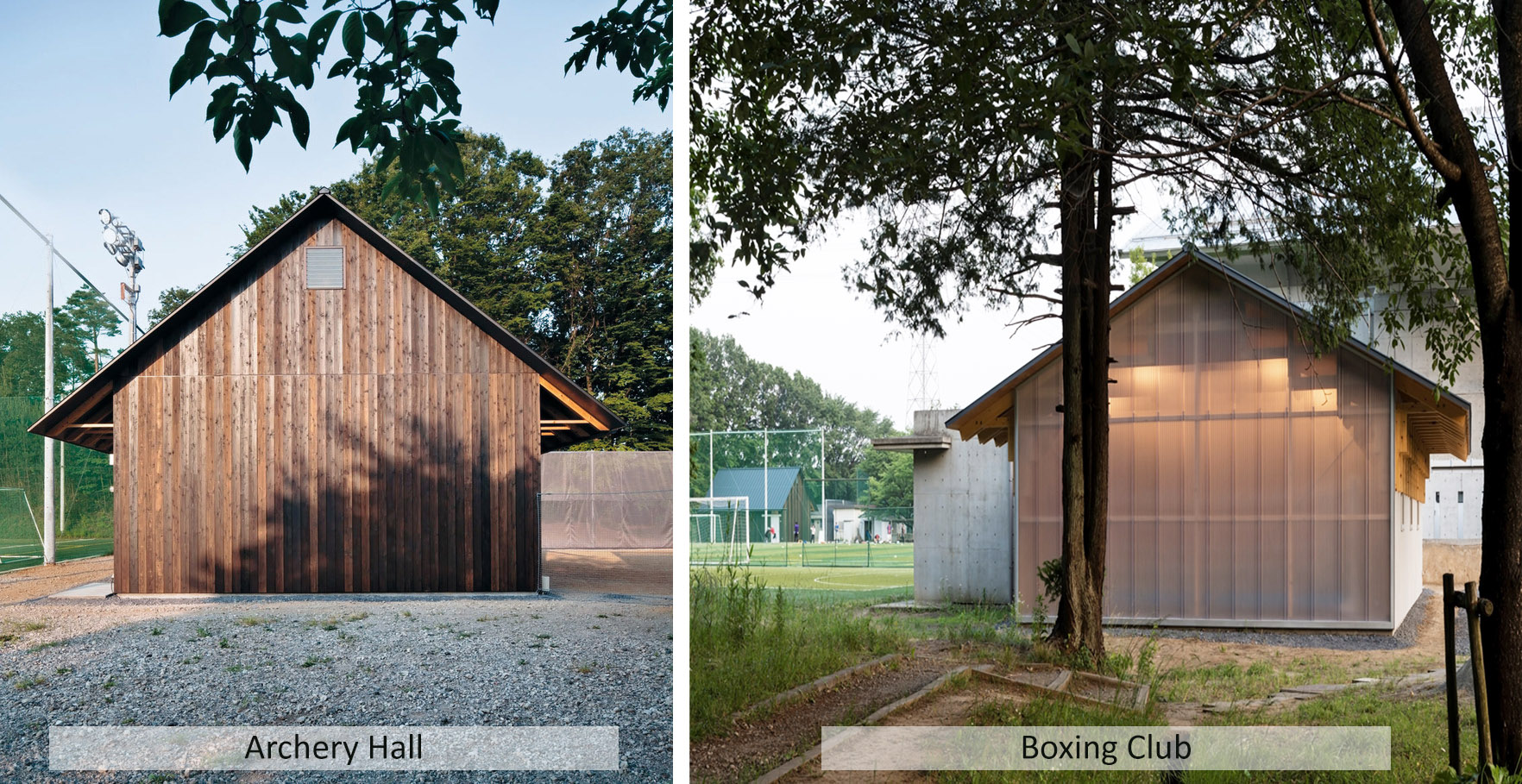 esterno Archery hall & Boxing club - FT architects