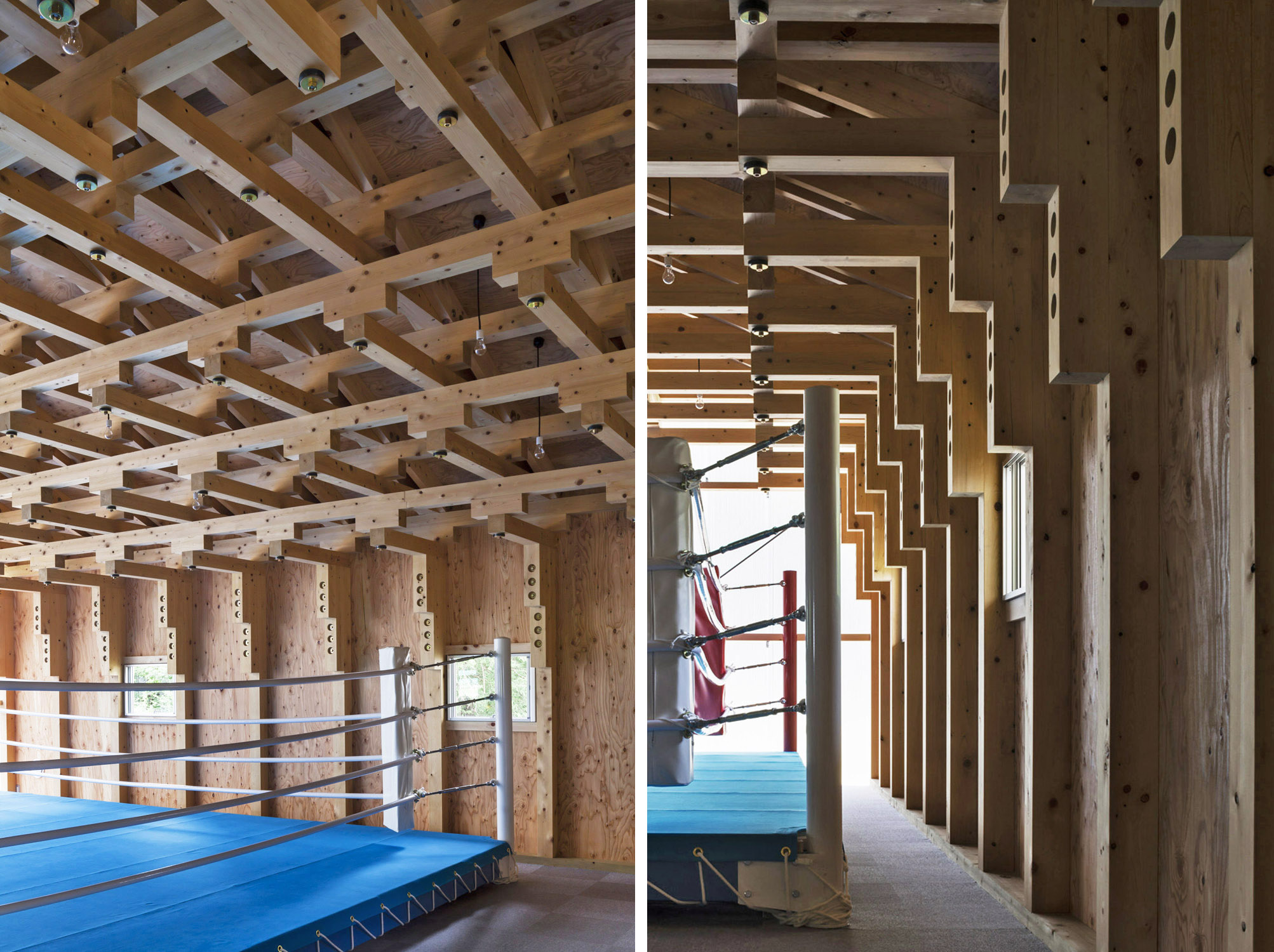 Boxing Club - FT Architects : veduta della struttura portante